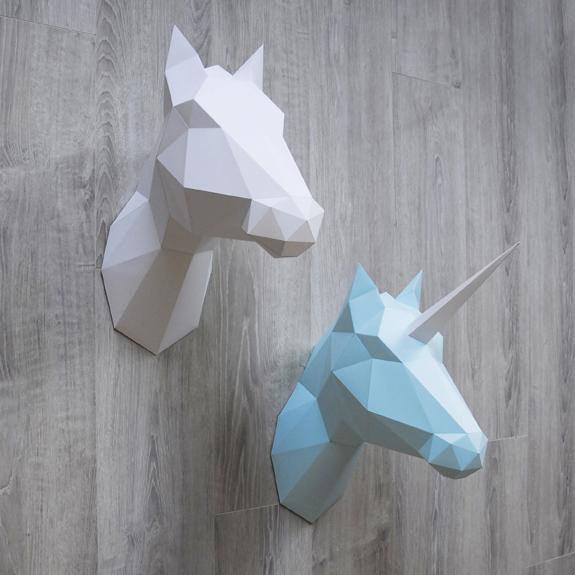 Paper horse en Unicorn